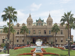 The world famous casino at Monte Carlo is a show piece of the Cote d'Azur.