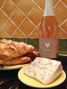 Croissants from the baker, wine from the butcher and a nice chunk of bleu from the cheese shop, were all Easter week gifts from our French merchants.