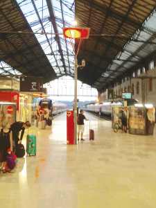 Marseille's St. Charles train station is a rare senior-friendly one. Unlike other French stations, its platforms are on one level – no stair climbing involved!