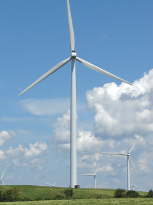 The constant lake-effect winds and the wide open farmland of Lewis County make the Tug Hill region an ideal place for New York's largest wind energy farm, the Maple Ridge Wind Farm with 195 wind turbines.