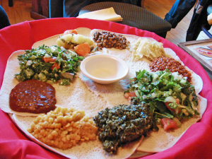 Blue Nile Ethiopian Restaurant offers authentic Ethopian food and is one of many ethnic restaurants in Ann Harbor.