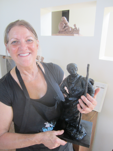 BuMann is hoping to make a larger than life version of this model of Harriet Tubman she has created. The sculptor said whenever she undertakes a project she becomes intimately acquainted with its subject through the background research she does.