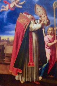 St. Aphrodise, the patron saint of Beziers, was beheaded but carried his head back to his cave. The Reeds explored the church built on the site of his cave.