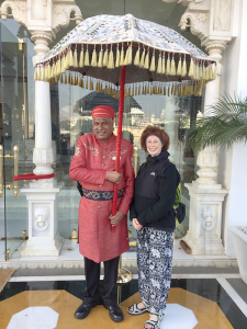 Marilyn Pinsky at a hotel in Udaipur in the western Indian state of Rajasthen.