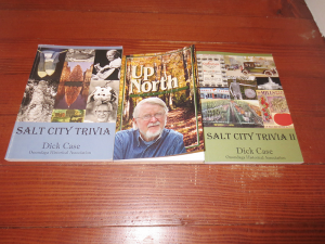"Books written by Dick Case. The latest, ""Salt City Trivia II,"" (on the right) was recently published."