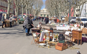 "We can spend a lazy Tuesday or Saturday browsing the ""brocante"" or flea market."