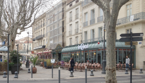 Le Bar Cristal is one of our favorite cafes in Beziers. For the price of a cup of coffee or glass of beer, we can sit for hours and watch the world go by.