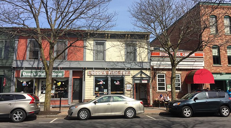 Doug's Fish Fry occupies three storefronts in downtown Skaneateles, including a separate entrance for the ice cream counter.