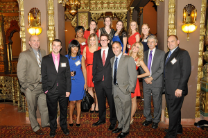 Group shot of the staff of then-Time Warner Cable during the station's 10th anniversary party in 2013.