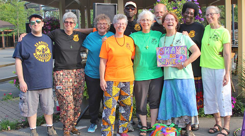 Kambuyu Marimba Ensemble in a recent event at Rosamond Gifford Zoo in Syracuse.