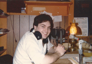 Ron Lombard in his earlier days while at WCBA radio in Corning. He was the news department, and as such, his regular work week was six days, often seven, and 12-15 hours a day.