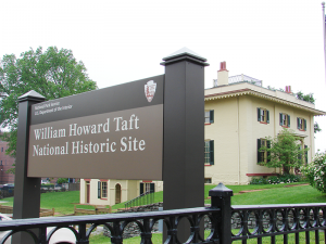 At William Howard Taft National Historic Site people can learn more about the 27th president of the United State. He also served as chief justice of the Supreme Court.