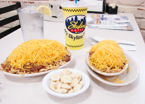 You've never had chili until you try Cincinnati Chili: Spaghetti topped with chili and mounds of shredded cheese
