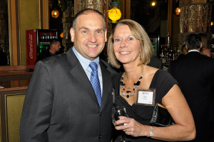 Ron Lombard and his wife, Deb, at the station's 10th anniversary party in 2013.