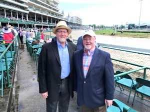 McCabe with his brother Tim at Kentucky Derby in May