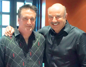 Speaking at mental health convention in Texas with Dr. Phil McGraw. Photo provided.