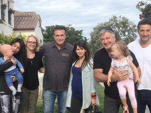 Photo was taken at Daniel's home in Malibu in 2015. From left, Rafael Baldwin, fiance Robin, Michelle Salinger, Daniel, Hillaria Baldwin, Alec Baldwin, Carman Baldwin and Billy Baldwin. Photo provided.