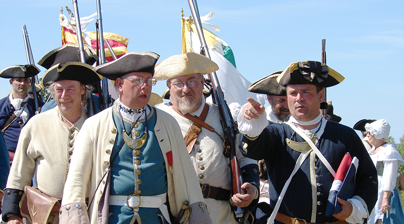 Reenactment at Fort Ontario in Oswego.