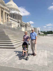Granddaughter Inga with DeDe and Jim Walsh during a visit in Washington, DC in 2015.