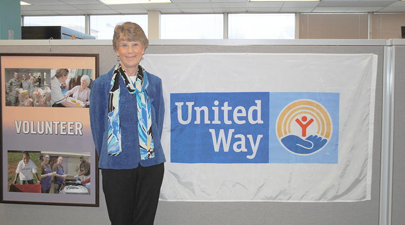 Nancy Eaton at the United Way of Central New York headquarters on James Street, Syracuse.
