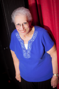 Quick-witted 77-year-old loves to recount her time on stage when she was an employee at SUNY Oswego and a member of the Oswego Players, a local community theater company. Photo courtesy of Marianne Natoli