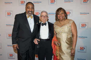 Guastavino's, New York City, Oct. 29, 2015: Lorraine Branham and her husband, Melvin Williams, with Donald Newhouse at the Newhouse School's 50th anniversary gala.