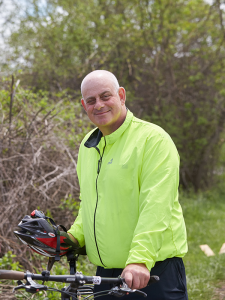 Jeff Kramer photographed by Chuck Wainwright May 11 at Butternut Creek Recreation and Nature Area in DeWitt.