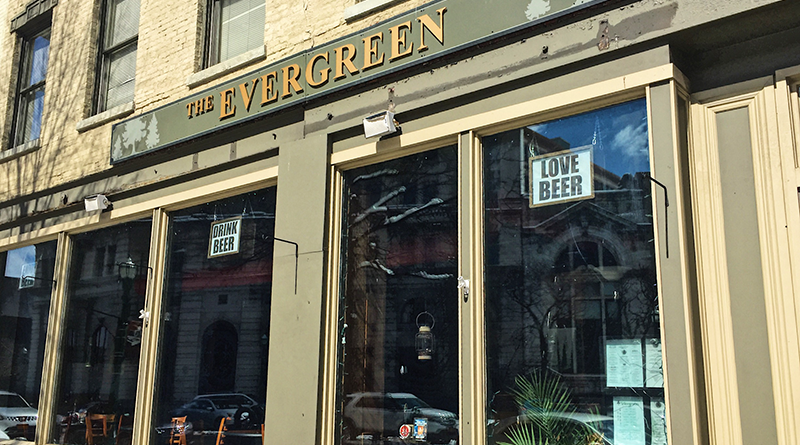 The Evergreen on Hanover Square in downtown Syracuse. The restaurant will turn 3 later this year.