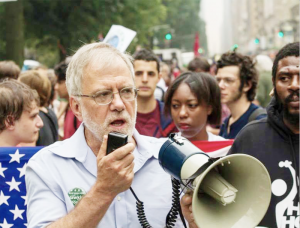 Hawkins speaking at the People's Climate March, New York City, Sept. 14, 2014. Photo courtesy of Colin D. Young.