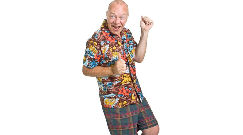 senior wearing funny clothing