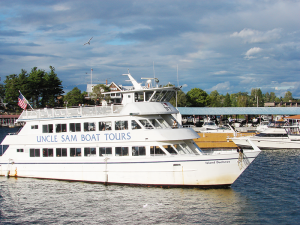 Uncle Sam's Boat tours give visitors a great overview of the Thousand Islands.