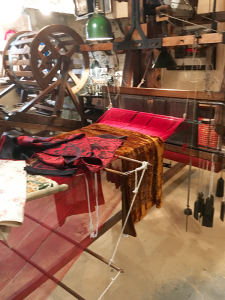 A systeme jacquard silk loom at the Soierie Saint-Georges.