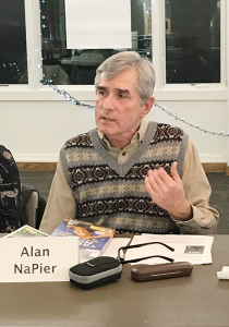 "Alan NaPier, who retired from the Liverpool Public Library three years ago, has played a key role in the success of CNY Reads One Book. ""If you pick the right [book], there's so much to talk about,"" he says."