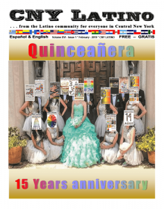 CNY Latino, a newspaper catering to the local Latino population, is turning 15 years. It prints from 8,000 to 10,000 copies on a monthly basis.