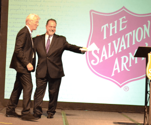 Mark Re with actor Richard Gere during a Salvation Army fundraising luncheon in Syracuse in 2017.