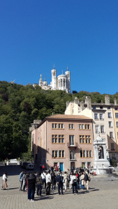 The Basilica of Notre Dame de Fourviere, high on a hill above Lyon, can see seen from anywhere in the city. It's built on the site of a Roman forum.