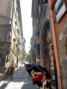 An out-of-work silk maker created the puppet Guignol, now a famous symbol of the city of Lyon. The Old Town has a museum and theater dedicated to the puppet.