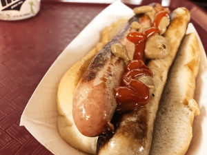 Mixed double: Heid's notable mixed double with a coney and a frank in one bun.