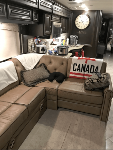 Pritchard's RV has a wide range of amenities, including electric fireplace, king size Sleep Number bed, dishwasher, induction cook top, microwave convection oven, on-demand hot water shower unit, full-sized refrigerator. It's a 2016 Forest River Charleston 430 RB  valued at $250,000.