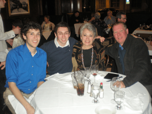 Larry Luttinger with his family: from left are sons Jake and Max, and his wife, Margaret. Photo provided.