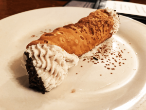 Two thumbs up for the cannoli.