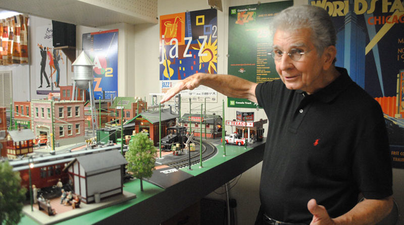 "Nearly half Ed Bernat's basement in Westvale is home to a model train display that he lovingly calls ""Silly City."" The layout is anything but silly. It's is a testament to Bernat's imagination, sense of humor and patience."