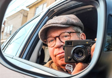 Renowned Syracuse photographer Michael Davis in a selfie.