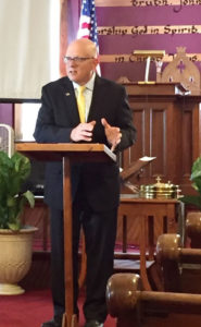 Chuck Copps preaches to his congregation at Lakeside Christian Ministries in Fulton. Photo submitted.