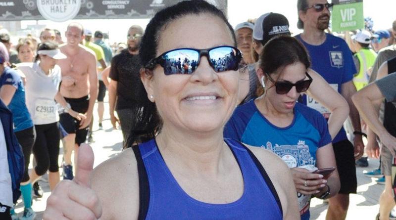 Maryann Roefaro at the Popular Brooklyn Half Marathon, 2019.