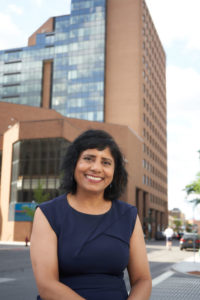 Commissioner Indu Gupta, photographed by Chuck Wainwright in downtown Syracuse June 12.