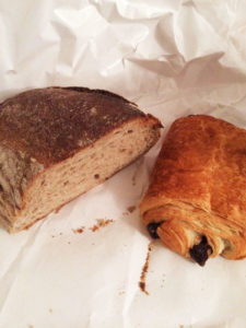 A hunk of bread cut from a 4-foot loaf on a scarred wooden table on the sidewalk, and a pain au chocolat was a typical day's purchase at Boulangerie Cristal.