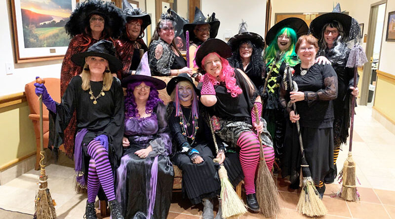 MemberS of the Sisterhood of the Traveling Broom. The group performed at 30 gigs at parades, festivals, galas, ladies' luncheons, nursing homes and senior living centers.
