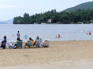 Million Dollar Beach is a great place to swim in Lake George.