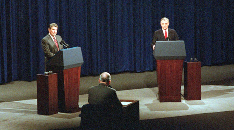 President Ronald Reagan in his second debate with former Vice President Walter Mondale in October 1984. The issue of old age was brought up by the moderator.